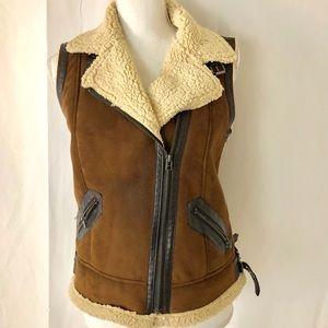 Zara faux suede vest & sheep lining